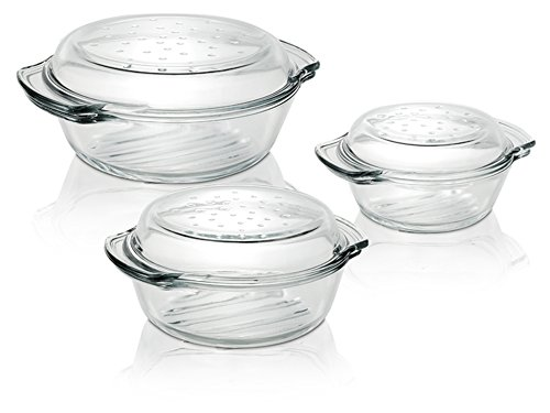 termisil 6tlg glas auflaufform deckel 1 0 1 7 2 4 liter sch ssel terrine kasserolle. Black Bedroom Furniture Sets. Home Design Ideas