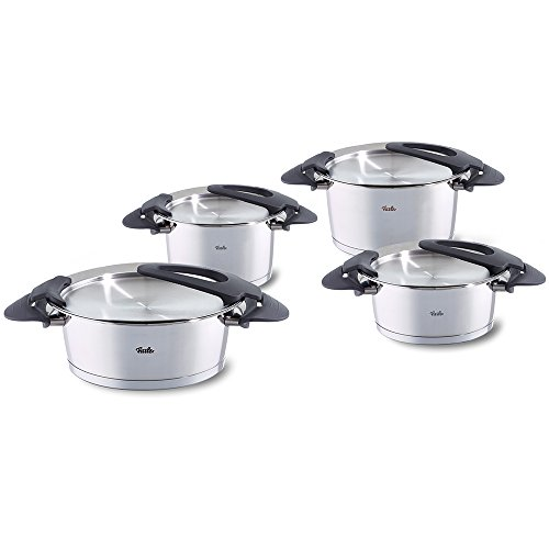 fissler topfset intensa 4 teilig edelstahl kochtopf set kocht pfe induktion gas elektro. Black Bedroom Furniture Sets. Home Design Ideas