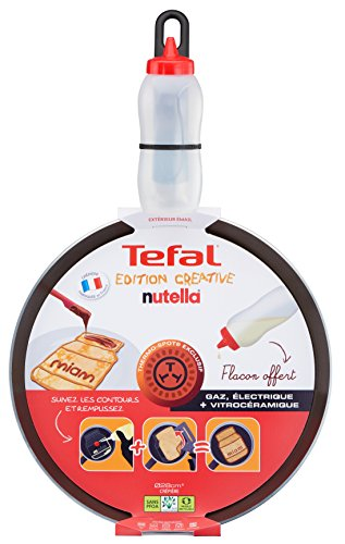 tefal e5029102 mjam kreative cr pes pfanne 25 cm flasche kreative inkl d cor nutella anorlle. Black Bedroom Furniture Sets. Home Design Ideas