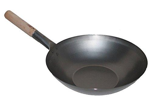 aaf nommel wok pfanne ca 33 cm flacher boden f r gas induktion ceran und elektro mit